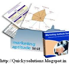 marketing aptitude objective type questions for bank exams