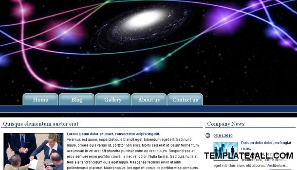 Blue Abstract Black Jquery Website Template