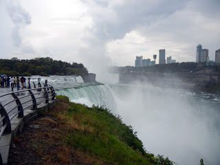 A view of the American Falls from Niagara Falls State Park in America