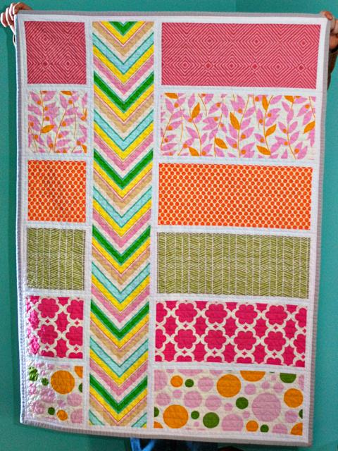 Bijou Lovely: colorblock quilt. : chevron stripe quilt pattern - Adamdwight.com