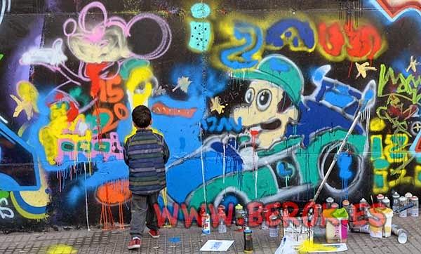 Graffiti de niño pequeño