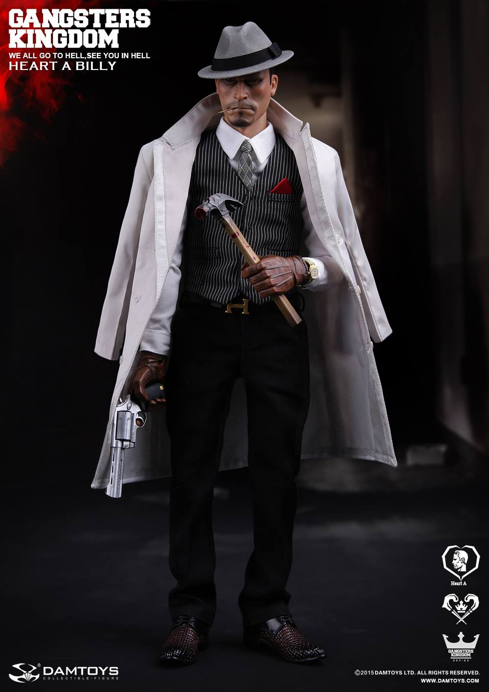DAMTOYS Coat GANGSTER KINGDOM HEART A BILLY 1//6 Action Figure Toys dam