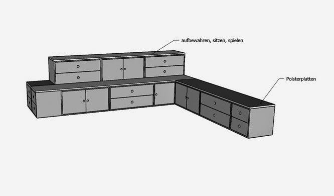 modulare Möbel für KITA - Kindergarten