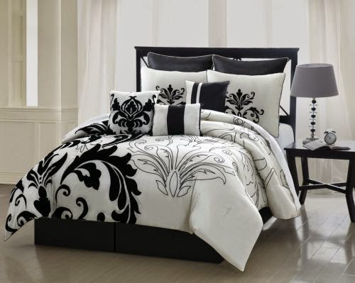 Black and White Queen Size Bedding Sets