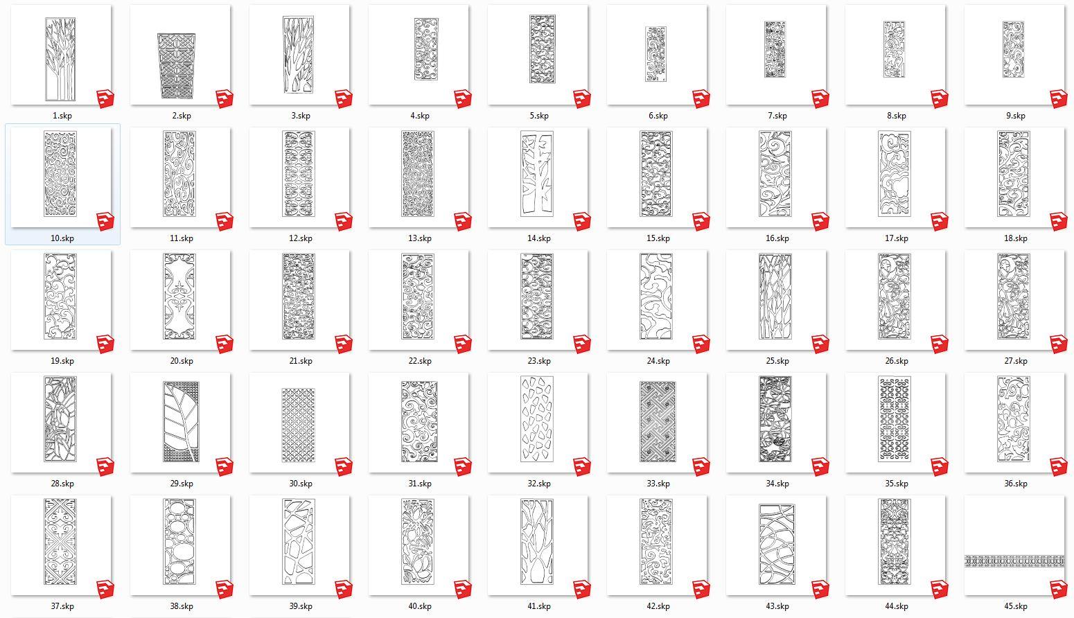 Download Sketchup 3d Model Pagar Ornamen Cnc Cut Free