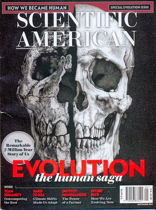 Scientific American cover, September 2014.