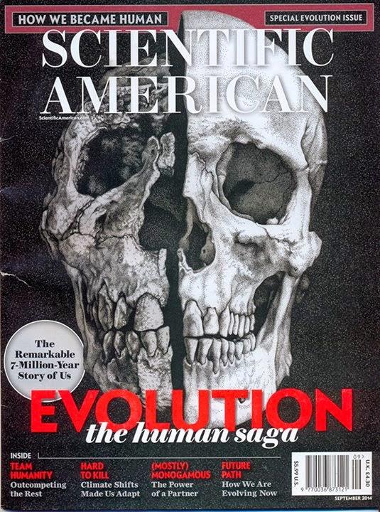 Scientific American cover, September 2014.