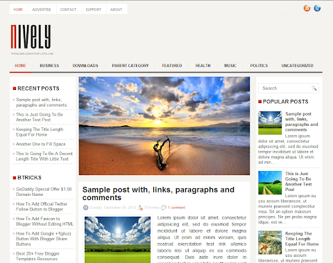 Nively Blogger Theme