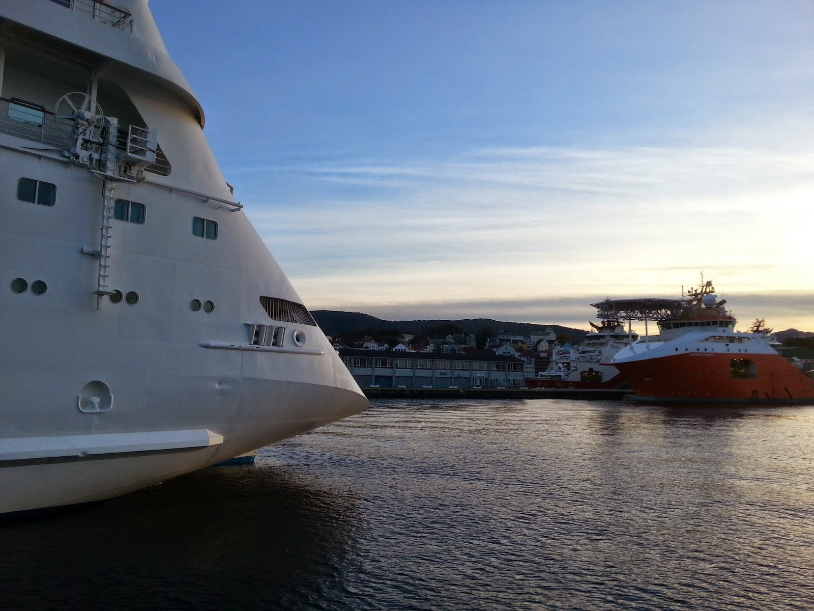Cruise Ship AIDAcara in Bergen, Norway