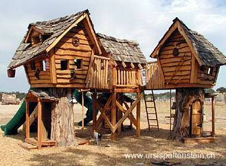 Arquitectura de casas creativas casas y caba as hechas - Casas en arboles para ninos ...