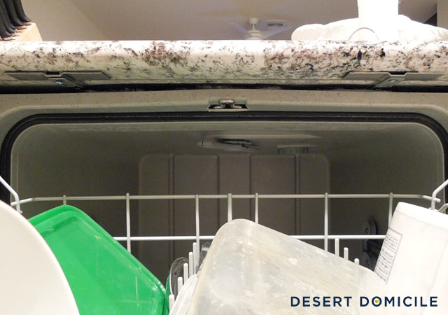 Countertop Dishwasher Mount : still need to touch up the caulk around the edges of our newly stuck ...