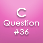 c questions