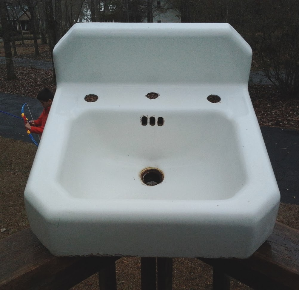 Building a Vanity, Restoring Another Vintage Sink, and Persevering ...