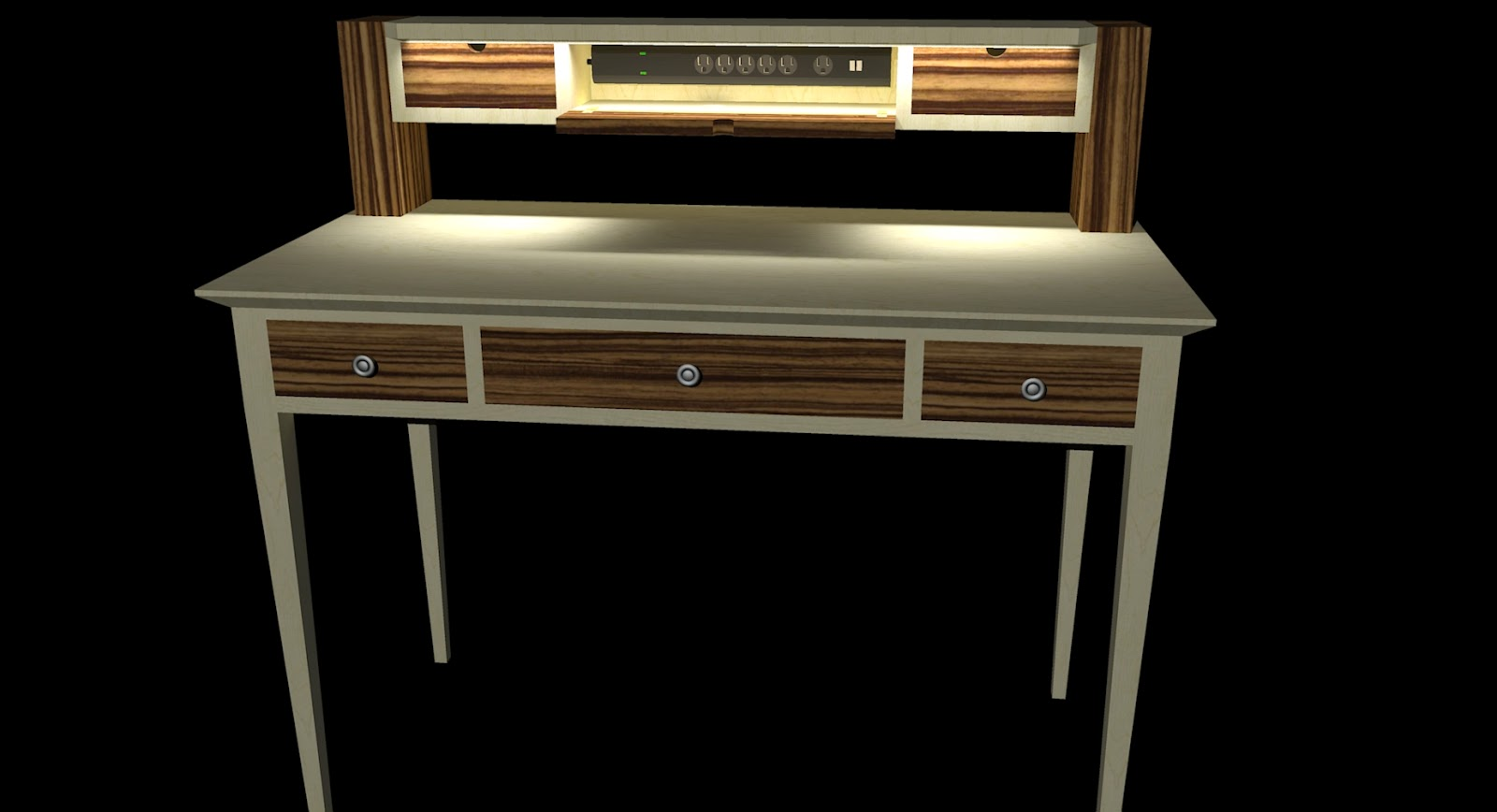 la varlope secr taire contemporain. Black Bedroom Furniture Sets. Home Design Ideas