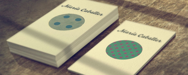Tarjetas de presentación de María Caballer
