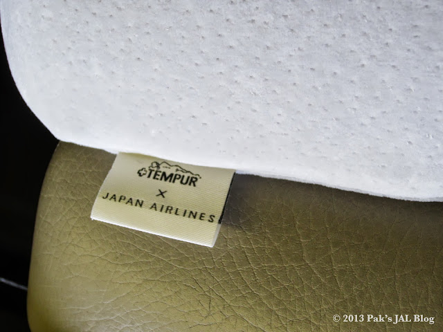 JAL has the exclusive rights to use Tempur products onboard.