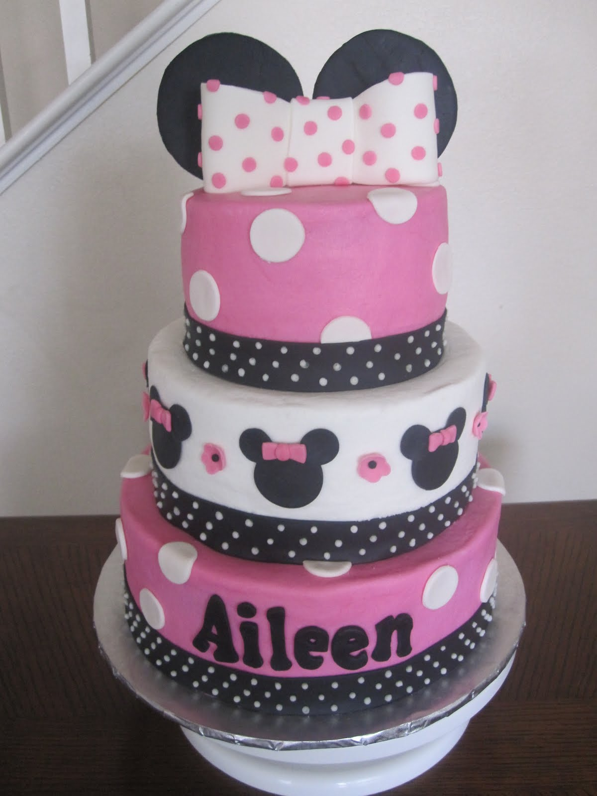 Baby Shower Cakes Hot Pink Minnie Mouse Cake