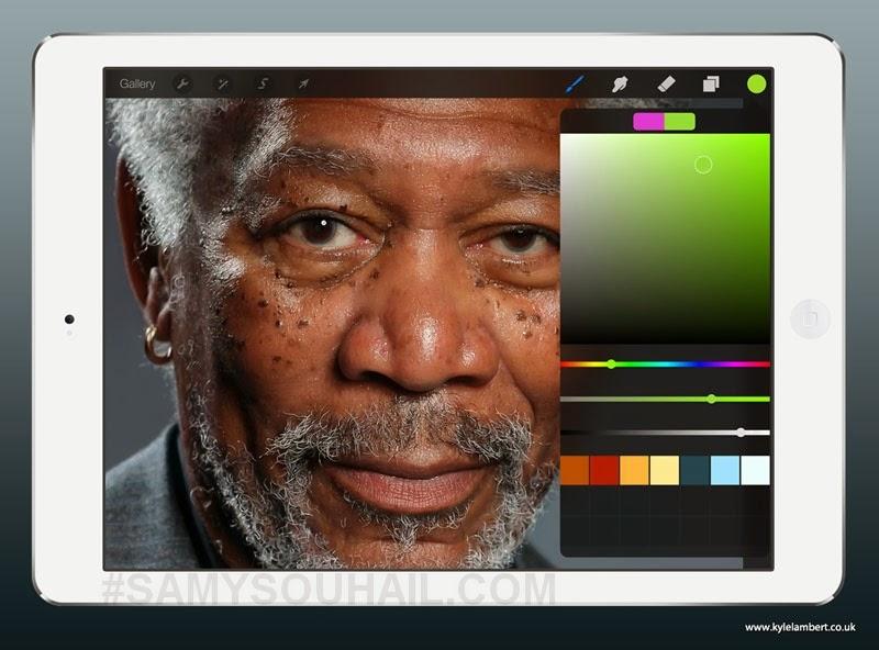 بالفيديو: رسم لوحة مذهلة على جهاز \آيباد\ بواسطة الإصبع