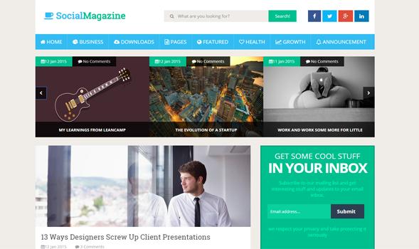 Social Magazine Responsive Blogger Tema