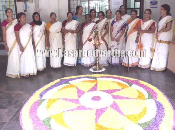 District co-operative bank Onam celebration, Pookkalam, Kasaragod