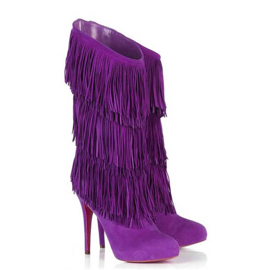 Suede Boots Purple7