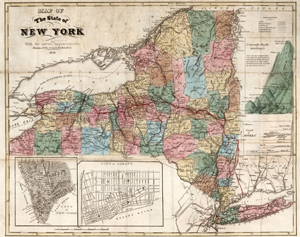 Map of the State of New York with the Latest Improvements, David Rumsey/DPLA