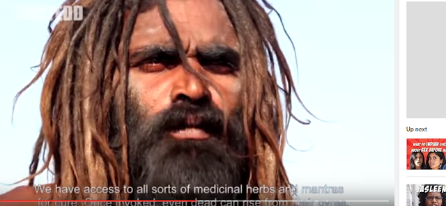 Aghoris are a dark Shaivaite  sect whose rituals and practices are opposed by many Hindus.  The engage in rituals of the dead. Living in grave yards, they smear cremation ashes on their bodies, and use human bones and skulls as jewelry.  Most controversially they are said to eat dead bodies.  In a video by Sorted, an Aghori baba explains some of the rituals of the sect.