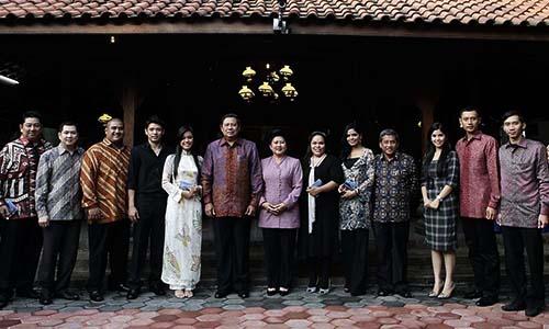 Foto SBY : dan Keluarga