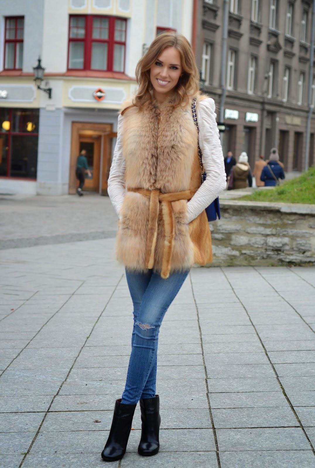 fox-fur-vest-zara-jeans-see-by-chloe-ankle-boots kristjaana mere