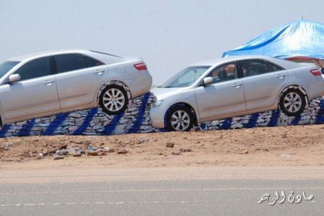 Waiting BD A Strange Car Show In Saudi Arabia - Car show wheel display stands