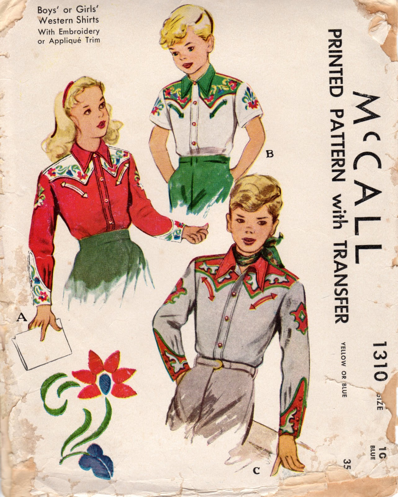 Unsung sewing patterns mccall 1310 boys or girls western shirts mccall 1310 boys or girls western shirts jeuxipadfo Images