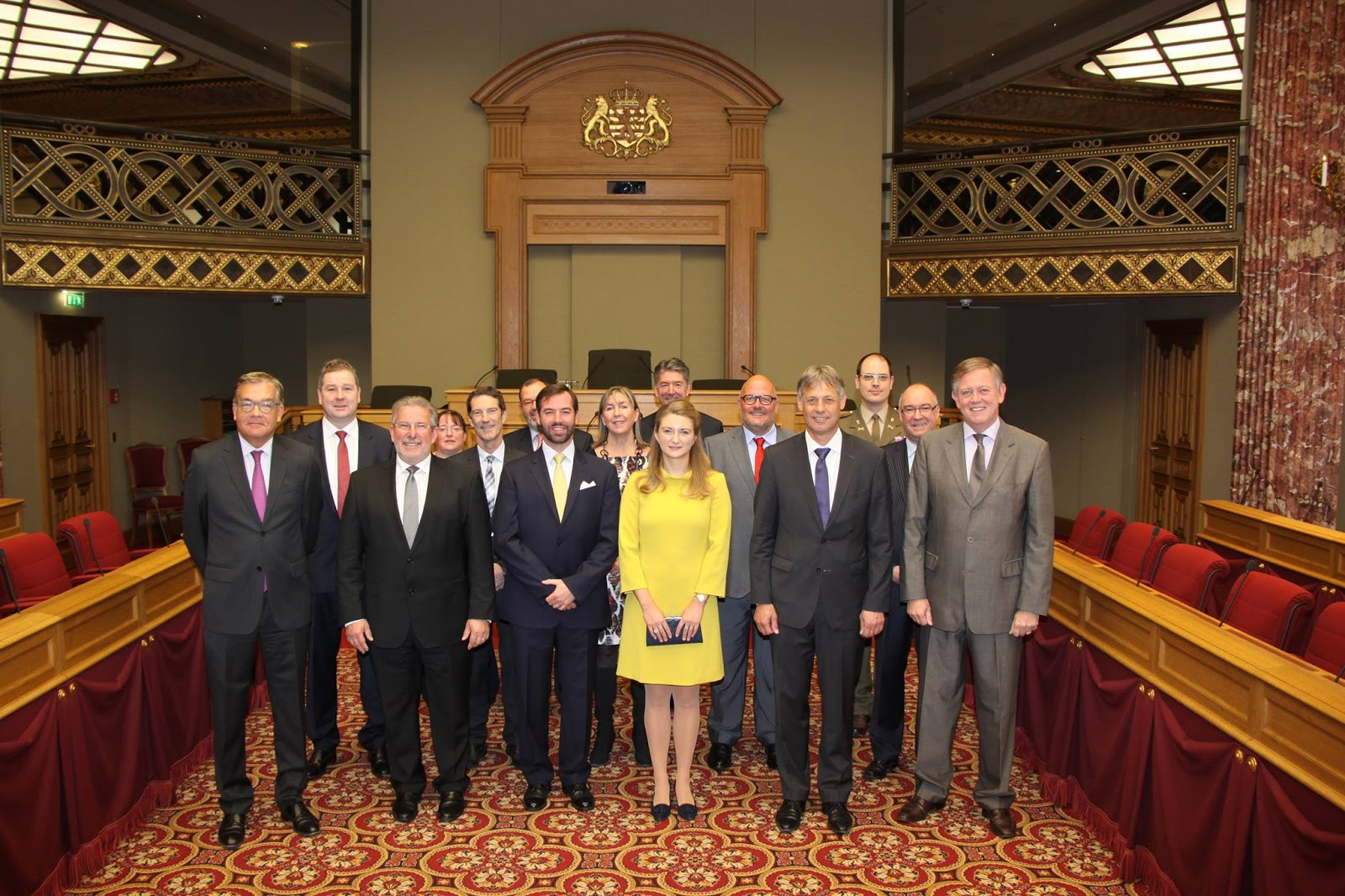 Luxarazzi guillaume and st phanie visit chamber of deputies for Chambre de deputes luxembourg
