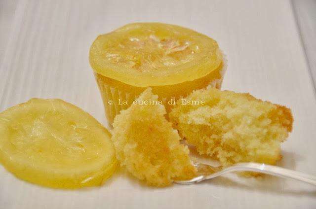 muffin al limoncello con limoni canditi