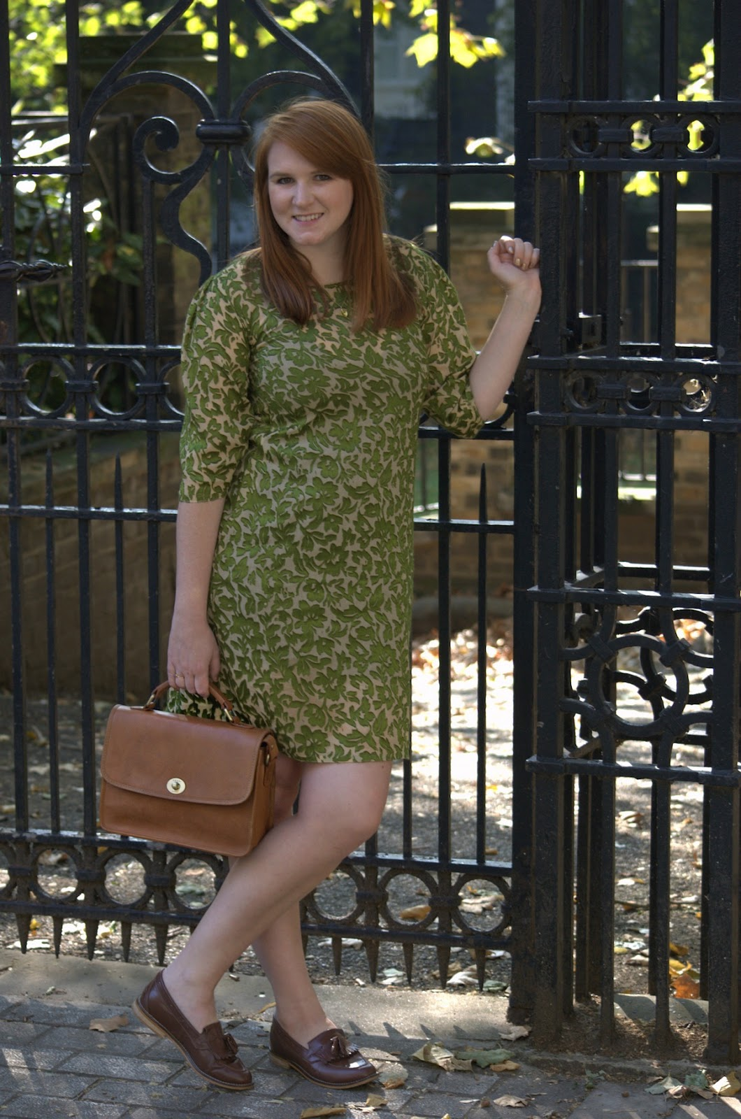 vintage dress and yoshi parsons bag