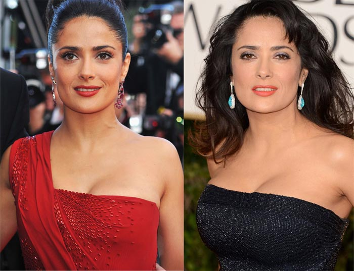 Salma hayeks boobs real