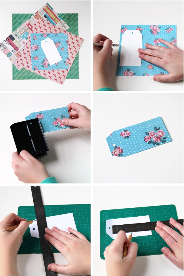 How to make Diy Shipping Tag Mini Notebooks