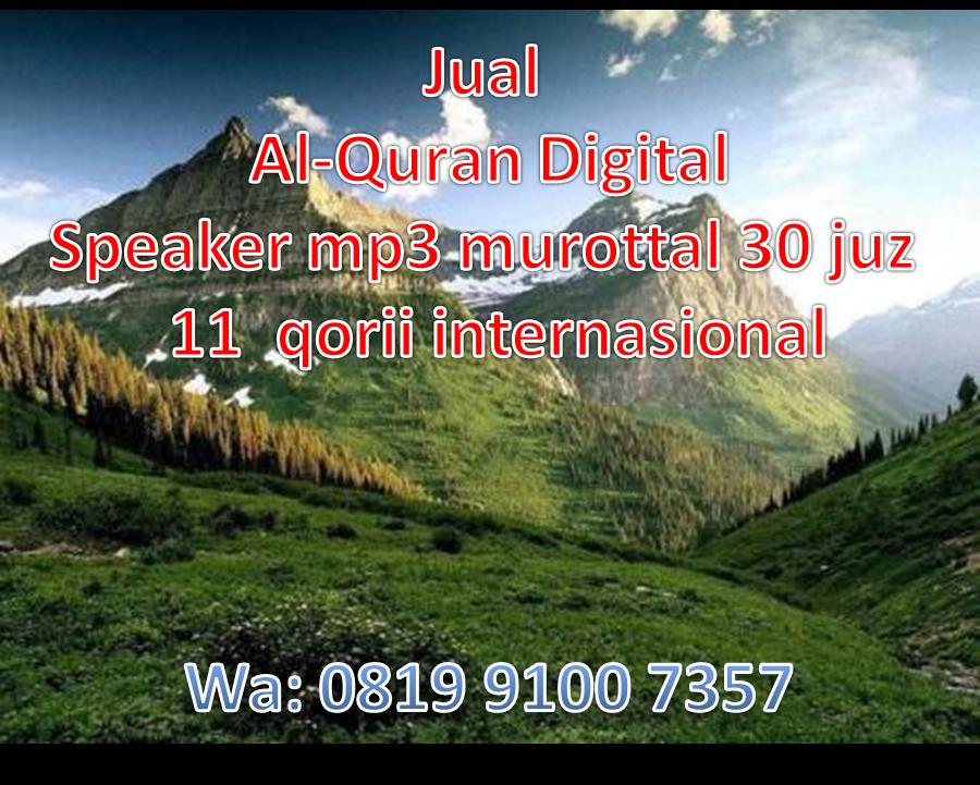 Distributort Alquran Digital Toko Quran Murottal Mp3 Agen Holy