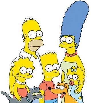 Imagen de la familia Simpson