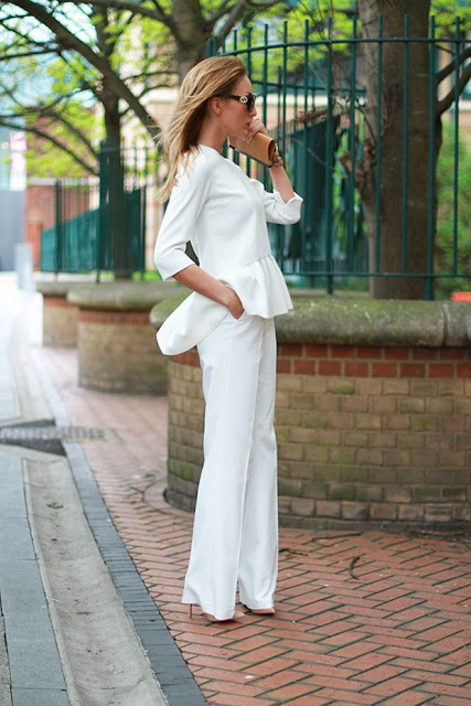 peplum all white