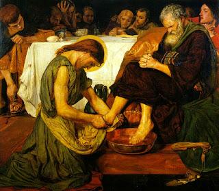 Tableau poétique des fêtes chrétiennes - Vicomte Walsh - 1843 - (Images et Musique chrétienne) Jesus_washing_peters_feet_ford_maddox_brown