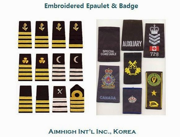 A wide range of embroidered epaulet & badges (click photo !!)