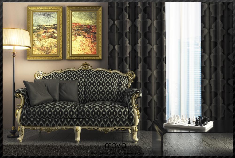 Arredamento di interni divani 3d realizzazione modelli for Arredamento moderno salotto