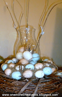 Spring Egg Arrangement at One More Time Events.com