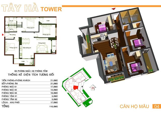Căn 04 Tây hà tower