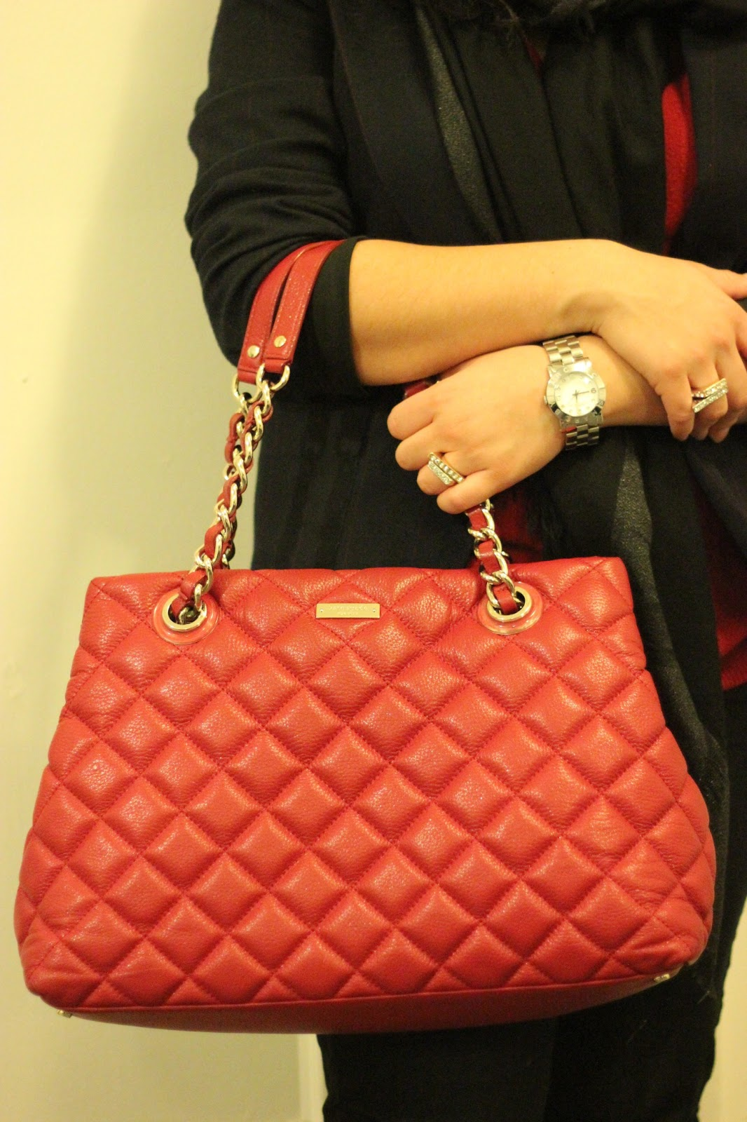 Kate Spade Quilted Red Purse