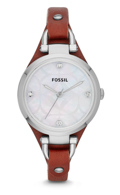 fossil-red-leather-watch-price