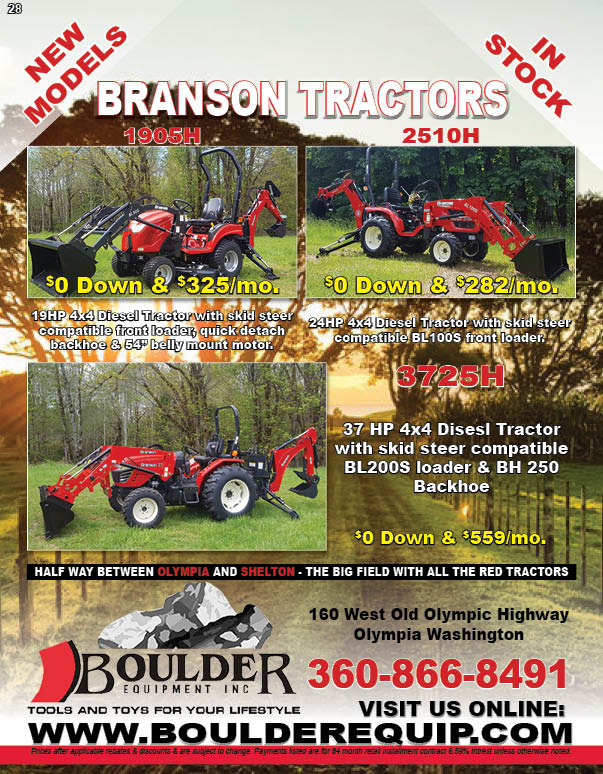 Boulder Equipment Has the New Branson Premium Diesel Tractors