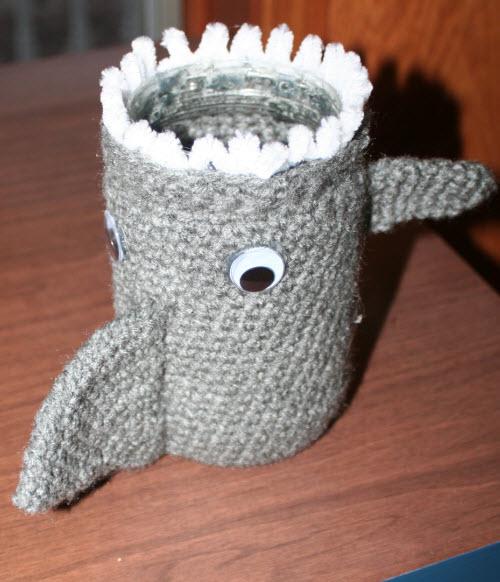 For His Glory Handiwork Shark Pencil Holder Pattern