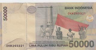 Pecahan 50000 Rupiah emisi 1999