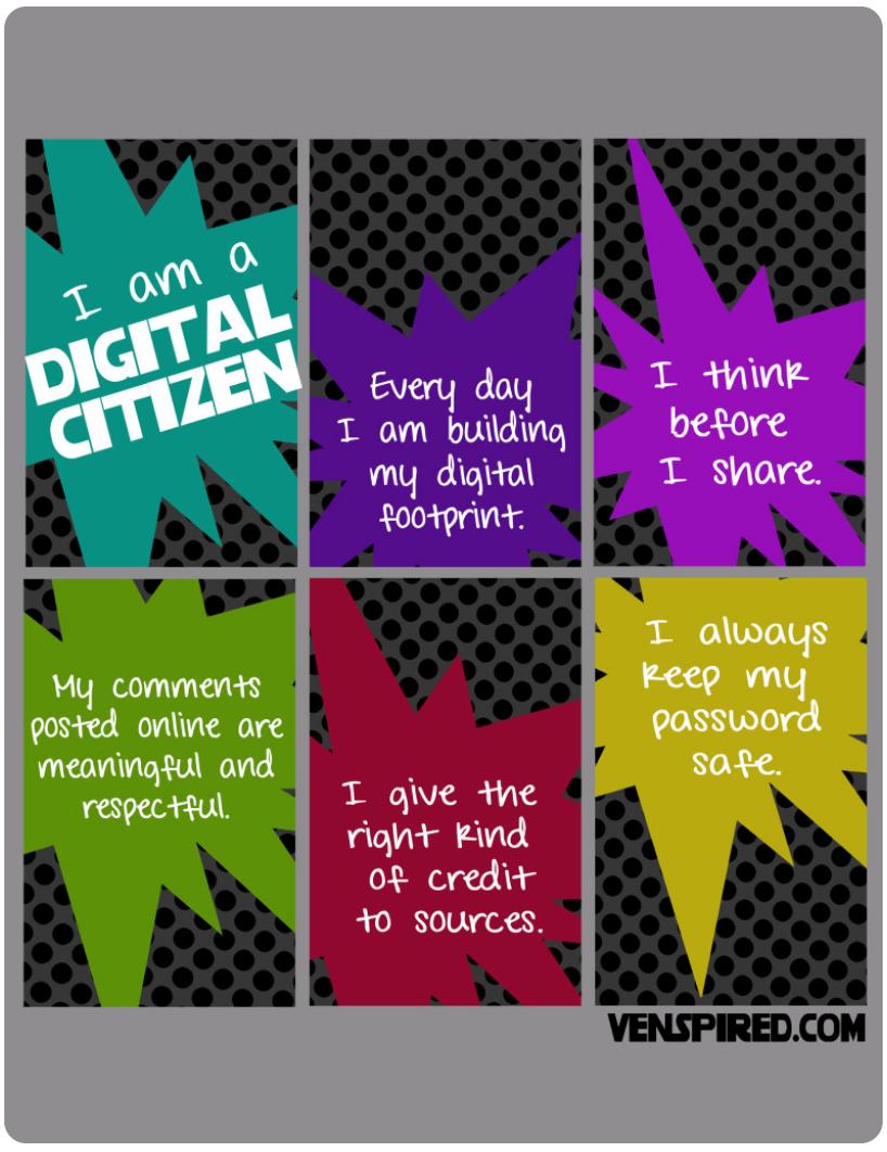 6 Good Classroom Posters on Digital Citizenhsip